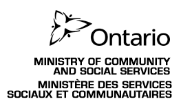 Ontario Ministry Of Community and Social Services
